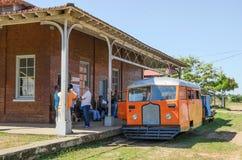 Litorina tour on Estrada de Ferro Madeira-Mamore railroad in Por Royalty Free Stock Image