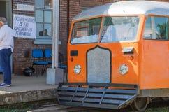 Litorina tour on Estrada de Ferro Madeira-Mamore railroad in Por Stock Image