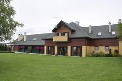 Litouwen, 21 Augustus: Motel in Litouwen royalty-vrije stock afbeeldingen
