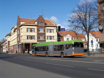 litouwen H Manto Street in Klaipeda Stock Afbeeldingen