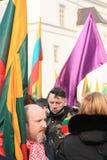 Litouwen 11 Maart Stock Afbeeldingen