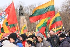 Litouwen 11 Maart Stock Fotografie