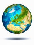 Litouwen ter wereld met witte achtergrond Royalty-vrije Stock Afbeelding