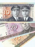 Litouwse bankbiljetten, 10, 20 en 50 litas. Royalty-vrije Stock Afbeeldingen