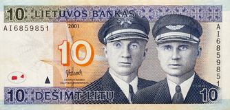 Litouwse bankbiljetten, geld Stock Afbeelding