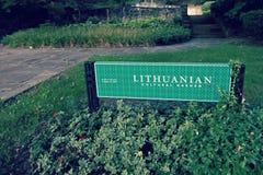 Litouwse Culturele Tuinen stock afbeelding