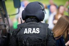 Litouwse de Eenheidsaras van Politie Antiterroristenverrichtingen ambtenaar Royalty-vrije Stock Afbeelding