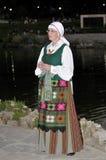 Litouwse oude vrouwen, folkloredansers royalty-vrije stock afbeeldingen