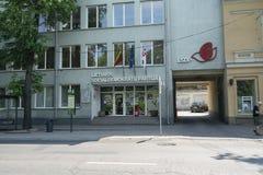 Litouwse Sociale Democratische Partij in Vilnius royalty-vrije stock fotografie