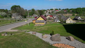 Litouwse steden Grinkiskis Royalty-vrije Stock Afbeeldingen