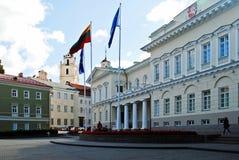 Litouwse voorzitterswoonplaats op 24 September, 2014 stock foto