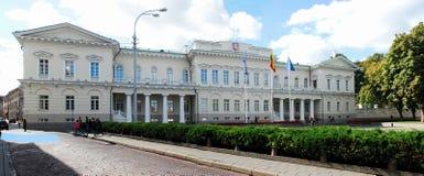 Litouwse voorzitterswoonplaats op 24 September, 2014 royalty-vrije stock afbeeldingen