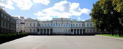 Litouwse voorzitterswoonplaats op 24 September, 2014 stock fotografie