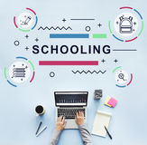 Litreacy Training Schooling Study University Concept. Home schooling education online from laptop Royalty Free Stock Photos