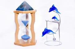 Litres d'horloge d'accessoires Photo stock