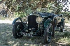 1928 4 3 litros Bentley sob uma árvore Fotografia de Stock