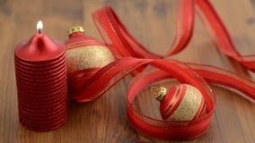 Litrotkerzen neue Ideen, das Haus zu verzieren dieses Weihnachten stock video footage