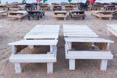 lits en bois vides du soleil Images libres de droits
