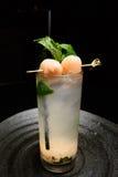 Litschi mojito Cocktail Lizenzfreie Stockbilder
