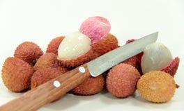 Litschi-plums Stock Image