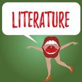 Littérature des textes d'écriture Concept signifiant des écritures écrites de livres de travaux éditées sur un sujet particulier illustration de vecteur