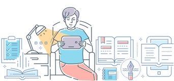 Littérature - ligne colorée illustration de vecteur de style de conception illustration de vecteur