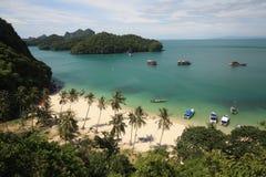 Litte海滩在Angthong国家公园 库存图片