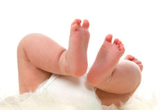 Litte babyfeet Royalty Free Stock Image