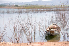 A litte boat on the lake in DucTrong- LamDong- VietNam Royalty Free Stock Image