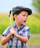 Litte boy golfer Royalty Free Stock Image
