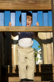 Litte boy playing on playground Royalty Free Stock Photos