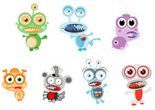 Litte colorful monster alien vector illustration Stock Image