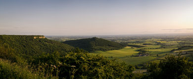 Litteken Sutton Bank - panorama-Roulston - Yorkshire - het UK Stock Foto