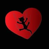 Littekens van hart Stock Fotografie