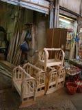 Carpenters Shop in Erbil. Littel Carpenters Shop in Bazar in Erbil royalty free stock photo