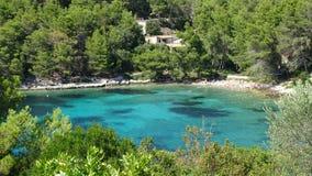 Hidden beach on the island royalty free stock photo