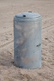 Litter bin at beach Stock Images