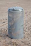 Litter bin at beach Stock Images