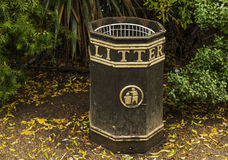 Litter bin in Hyde Park Royalty Free Stock Photos