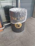 A litter bin. A litter bin outside of a supermarket Royalty Free Stock Image