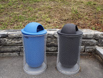 Litter bins. In the street royalty free stock photography