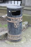 Litter container in the streets of Dublin Ireland royalty free stock photography