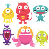 Litter Monsters Set Stock Images