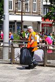 Litter picker, Nottingham. Royalty Free Stock Photos