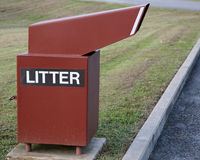 Litter receptacle Royalty Free Stock Image