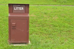Litter Receptacle Stock Image