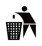 Litter sign. Black in white background Royalty Free Stock Photos