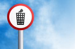Litter sign Royalty Free Stock Image