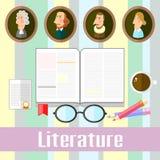 litteratur royaltyfri illustrationer