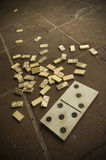Littered domino Royalty Free Stock Image
